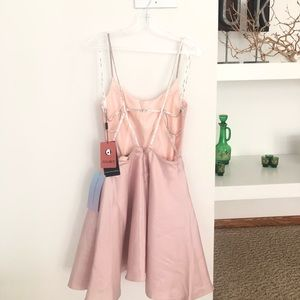 Blush pink never worn rhinestone strap dress